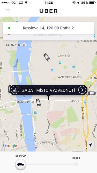 uber-aplikace-nastup